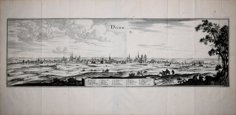 Matthaeus Merian (1593-1650), Diion [Dijon, France]