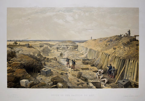 William Simpson (1823-1899), Illustrator, Ditch of the Bastion du Mat