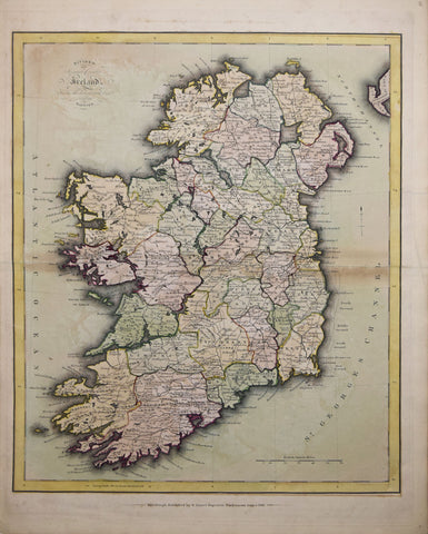 Daniel Lizars (1760-1812), Divided into Separate Counties Ireland from the Latest and Best Surveys