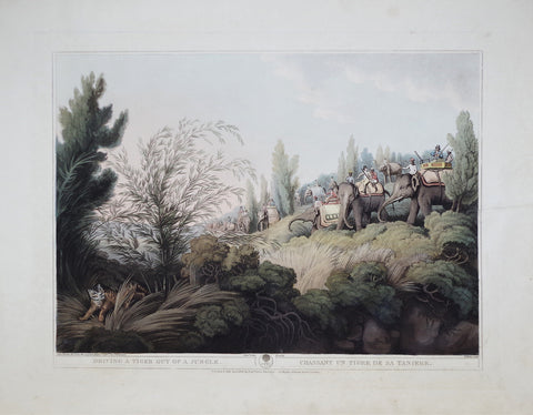 Thomas Williamson (1758-1817) and Samuel Howitt (1765-1822), Driving a Tiger Out of a Jungle