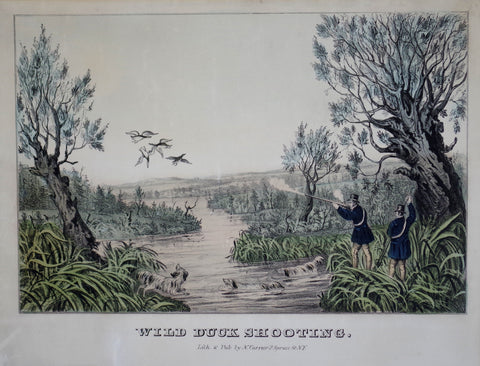 Nathaniel Currier (1813-1888) & James Ives (1824-1895), Wild Duck Shooting