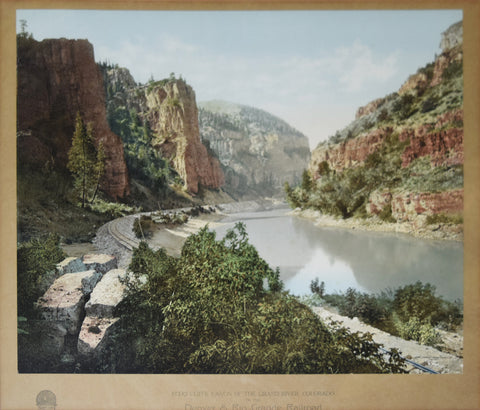 William Henry Jackson (1843-1942), Echo Cliffs, Canon of Grand Rover Colorado. On the Denver and Rio Grand Railroad