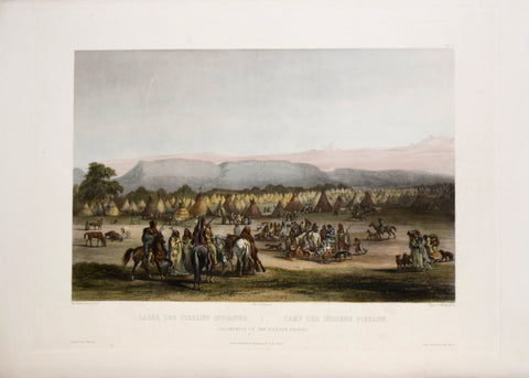 Karl Bodmer (1809-1893), Tab. 43, Encampment of the Piekann Indians