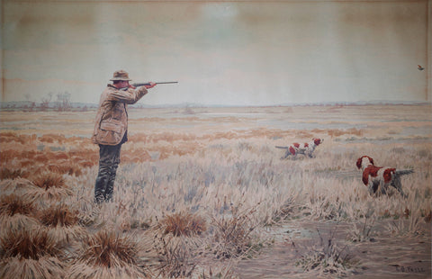 Arthur Burdett Frost (American, 1851-1928), English Snipe Shooting