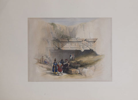 David Roberts (1796-1864), Entrance to the Tombs of the Kings, Jerusalem
