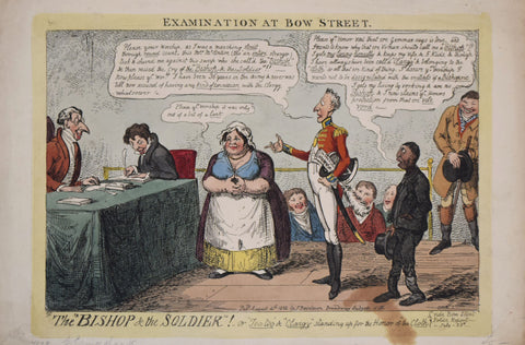 "Isaac Cruikshank (1764-1811), Examination at Bow Street. ""The Bishop and the Soldier!"" or ""Too-too""""..."