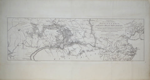 William Faden, (English, 1749-1836), A Plan of Part of the Provinces of Pennsylvania, and East & West New Jersey...