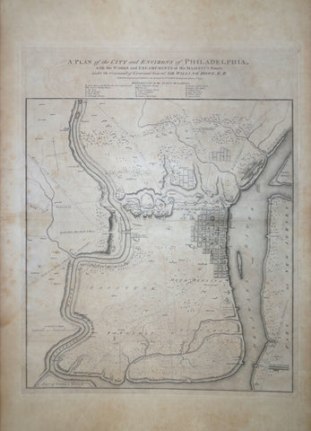 William Faden, (English, 1749-1836), A Plan of the City and Environs of Philadelphia