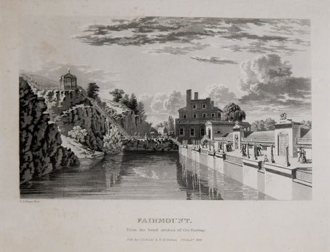 George Lehman (c. 1803-1870) & Cephas G. Childs (1793-1871),  Fairmount Waterworks from the Forebay