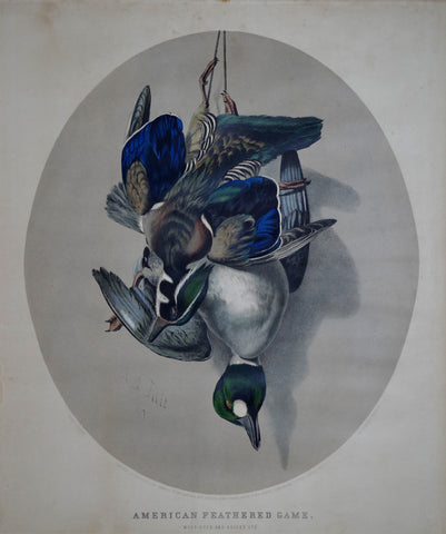 Nathaniel Currier (1813-1888) & James Ives (1824-1895), American Feathered Game: Wood Duck and Golden Eye
