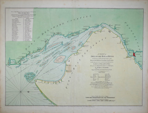 Joshua Fisher (1707-1783), A Chart of Delaware Bay and River containing a full & exact description
