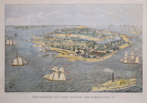 Edward Sachse & Co, Lithographers, Fort Monroe, Old Point Comfort and Hygeia Hotel, VA