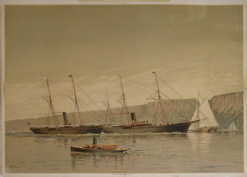 Frederic Schiller Cozzens (American, 1846-1928),  Untitled [Ships]