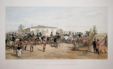 William Simpson (1823-1899), Illustrator, Funeral Cortege of Lord Raglan Leaving Head Quarters
