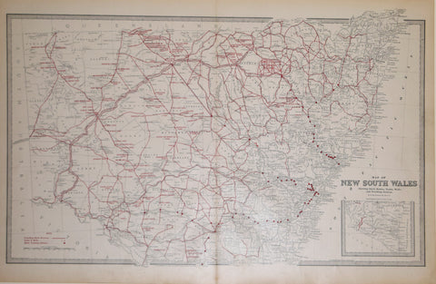 Andrew Garran (1825-1901), editor, Map of New South Wales