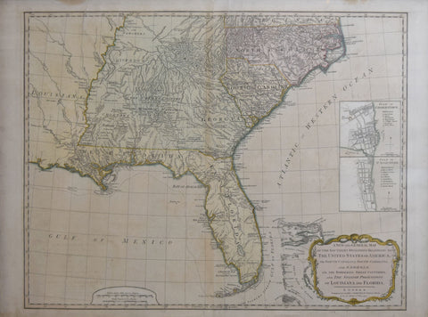 Robert Laurie (C. 1755-1836) & James Whittle (1757-1818), A New and General Map of the Southern Dominion of the United States of America...and the Spanish Possession of Louisiana and Florida