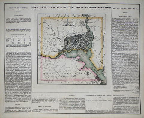 Henry Charles Carey (1793-1879) & Isaac Lea (1792-1886), Geographical, Statistrical and Historical Map of The District of Columbia