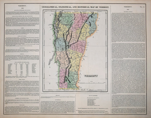 Henry Charles Carey (1793-1879) & Isaac Lea (1792-1886), Geographical, Statistical and Historical Map of Vermont