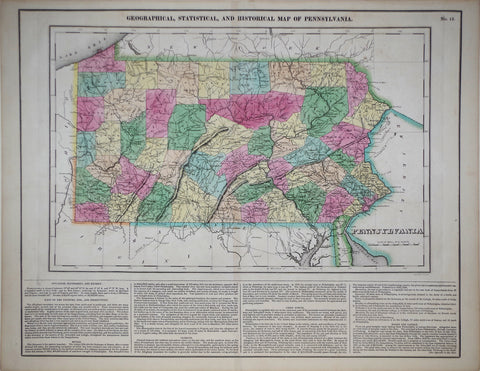 Henry Charles Carey (1793-1879) & Isaac Lea (1792-1886), Geographical, Statistrical and Historical Map of Pennsylvania