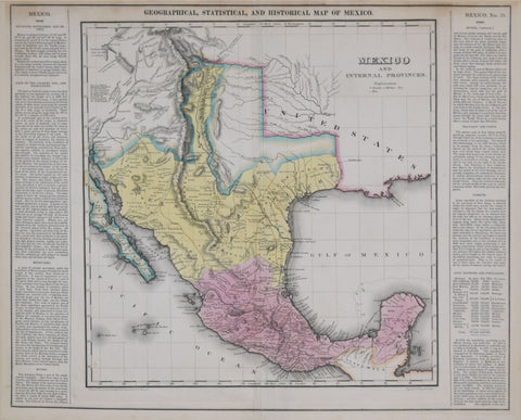 Henry Charles Carey (1793-1879) & Isaac Lea (1792-1886), Geographical, Statistical and Historical Map of Mexico