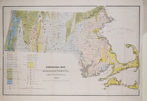 Edward Hitchcock, Geological Map of Massachusetts