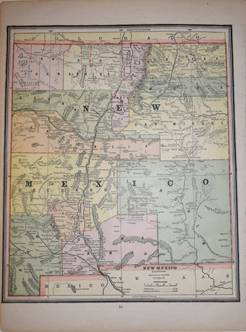 George F. Cram (1841-1928), Map of New Mexico