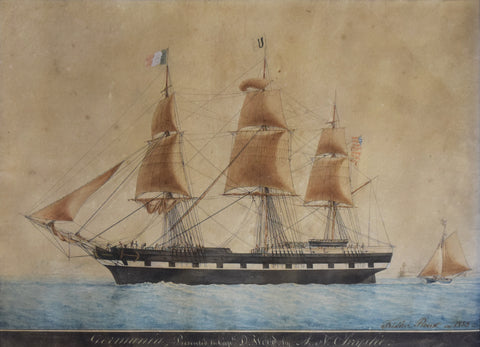 Frederic Roux (French, 1805-1870), Germania presented to Capt. D. Wood