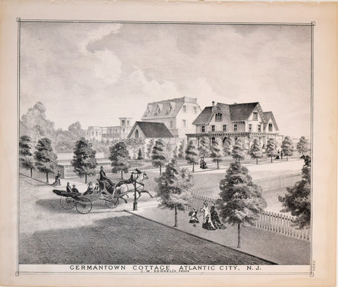 Theodore F. Rose (1845-1860), Illustrator , Germantown Cottage Atlantic City, NJ. J. W. Donnelly Prop