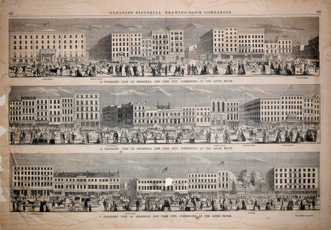 Henry Bricher (born ca. 1817), engraver, A panoramic view of Broadway, New York City, commencing at the Astor House