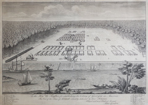 "Peter Gordon, ""A View of Savannah as it stood..the 29th of March..1734..."""