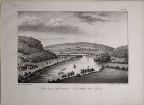 Ora White Hitchcock (1796-1863), artist, Gorge Between Holyoke and Tom