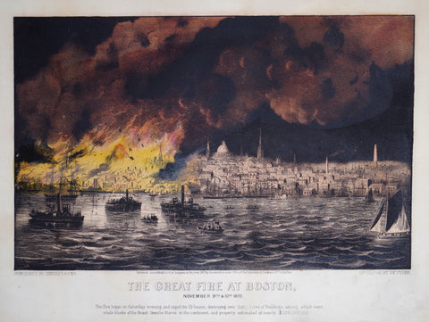 Nathaniel Currier (1813-1888) & James Ives (1824-1895), The Great Fire at Boston: November 9th & 10th 1872