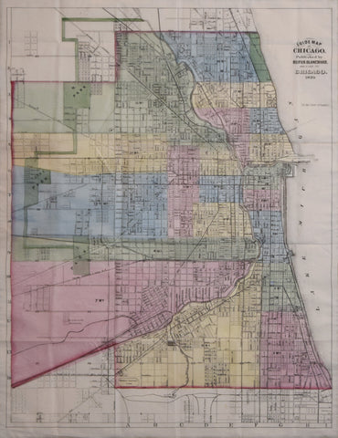 Rufus Blanchard (1821-1904), Guide Map of Chicago