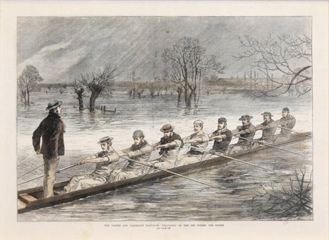 Harper's Weekly, The Oxford & Cambridge Boat Race: Practicing on the Isis...
