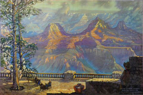 Harry Raymond Henry (American, 1882-1974), Grand Canyon, Arizona From The North Rim