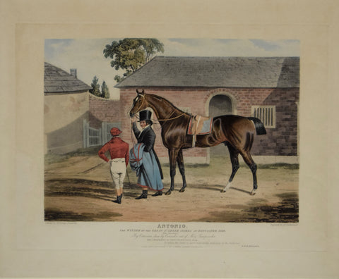 John Frederick Herring (1795-1865), after, Antonio: Winner of the Great St Leger at Doncaster, 1819