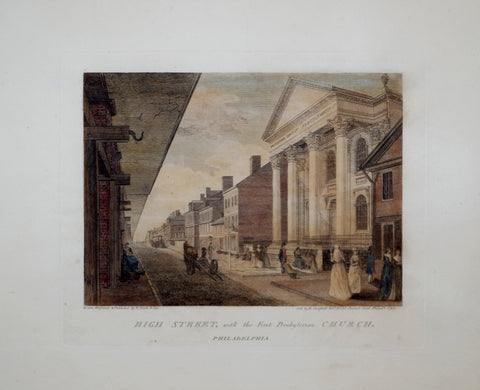 William Birch (1755-1834), High Street, with the First Presbyterian Church