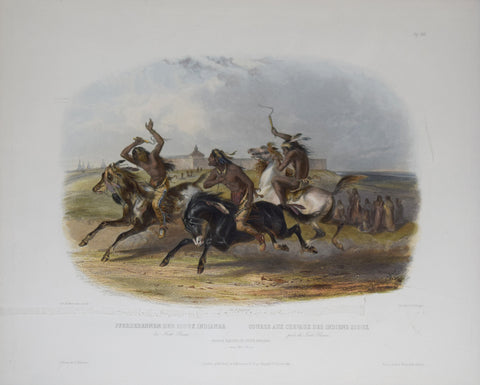 Karl Bodmer (1809-1893), Horse Racing of the Sioux Indians