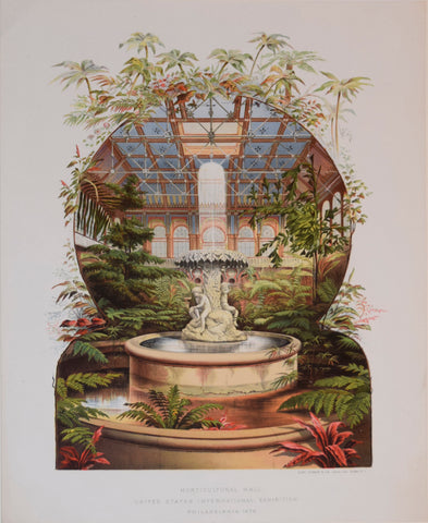 Charles B. Norton (1825-1891), editor, Horticultural Hall, United States International Exhibition, Philadelphia 1876. Plate 33