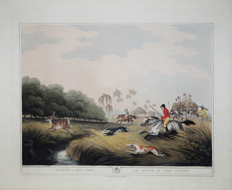Thomas Williamson (1758-1817) and Samuel Howitt (1765-1822), Hunting a Hog Deer