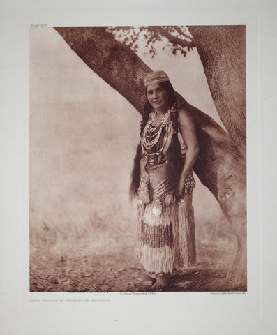 Edward S. Curtis (1868-1953), Hupa Costume Pl 468