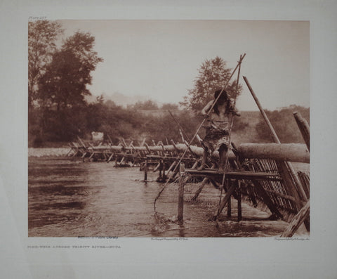 Edward S. Curtis (1868-1953), Hupa Fish Weir Pl 459