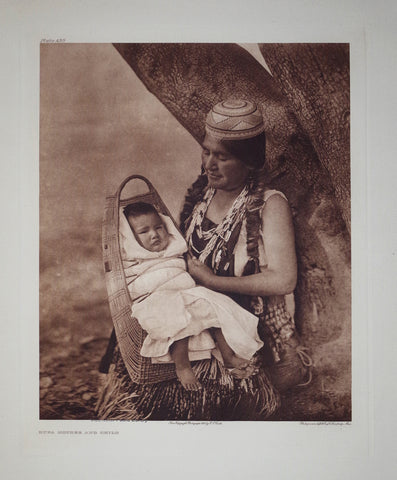 Edward S. Curtis (1868-1953), Hupa Mother Child Pl 450