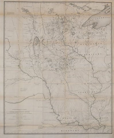 J.N. Nicollet and William H. Emory, Hydrographical Basin of the Mississippi River from Astronomical and Barometrical Observations…