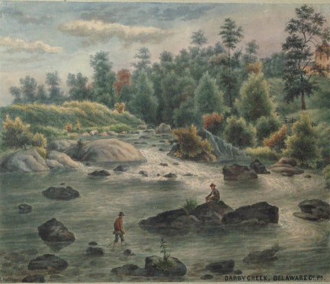 August Köllner (active 1838–72), Darby Creek, Delaware Co., Pa. 1888.