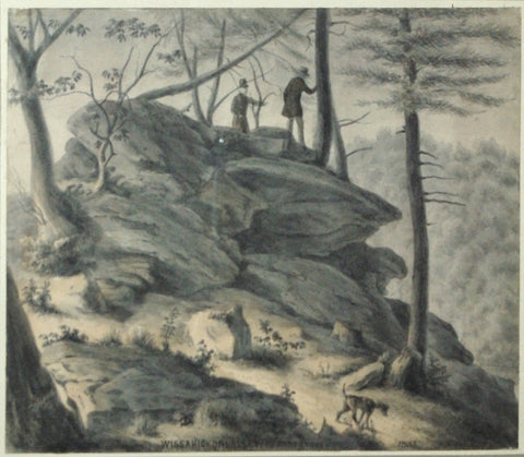 August Köllner (active 1838–72), Wissahickon Valley, East Shore. 1865