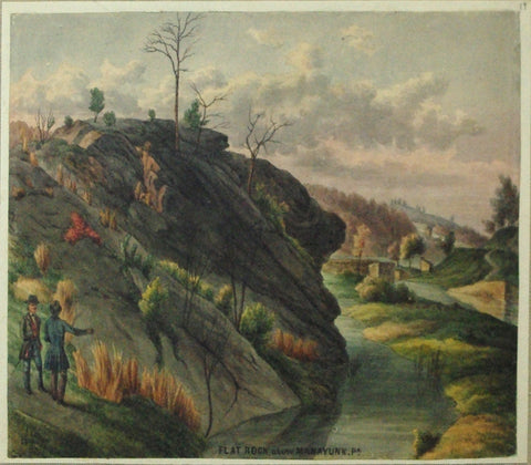 August Kollner (American, active 1838–72),  Flat Rock Above Manayunk. Pa. 1878