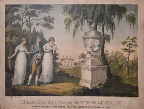 Edward Sachse (1804-1873),  In Memory of General George Washington and His Lady