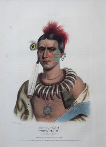 Thomas McKenney (1785-1859) & James Hall (1793-1868), Ioway Chief, Ma-Has-Kah, White Cloud