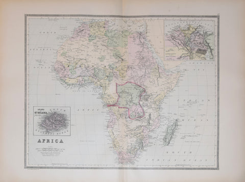 Wm. M. Bradley & Co., Africa, with inset map of: Island of St. Helena